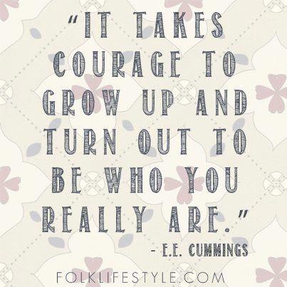 courage, E.E. Cummings
