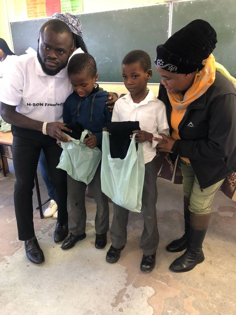 See What Nigerian Philantropist, Olatunji, Did For 300 Kids In South Africa (Pics)