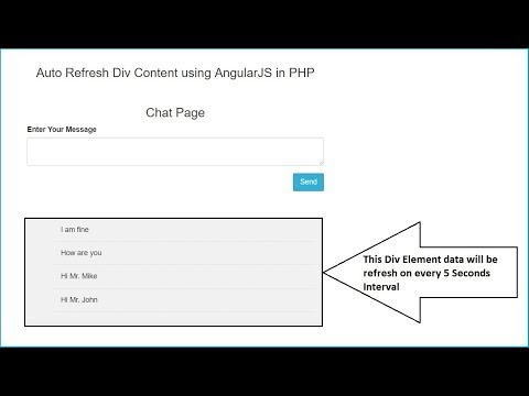 Auto Refresh Div Content using AngularJS in PHP   Webslesson
