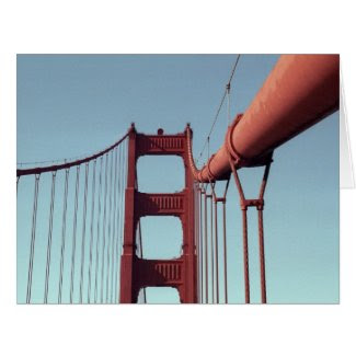 On The Golden Gate Bridge Greeting Card