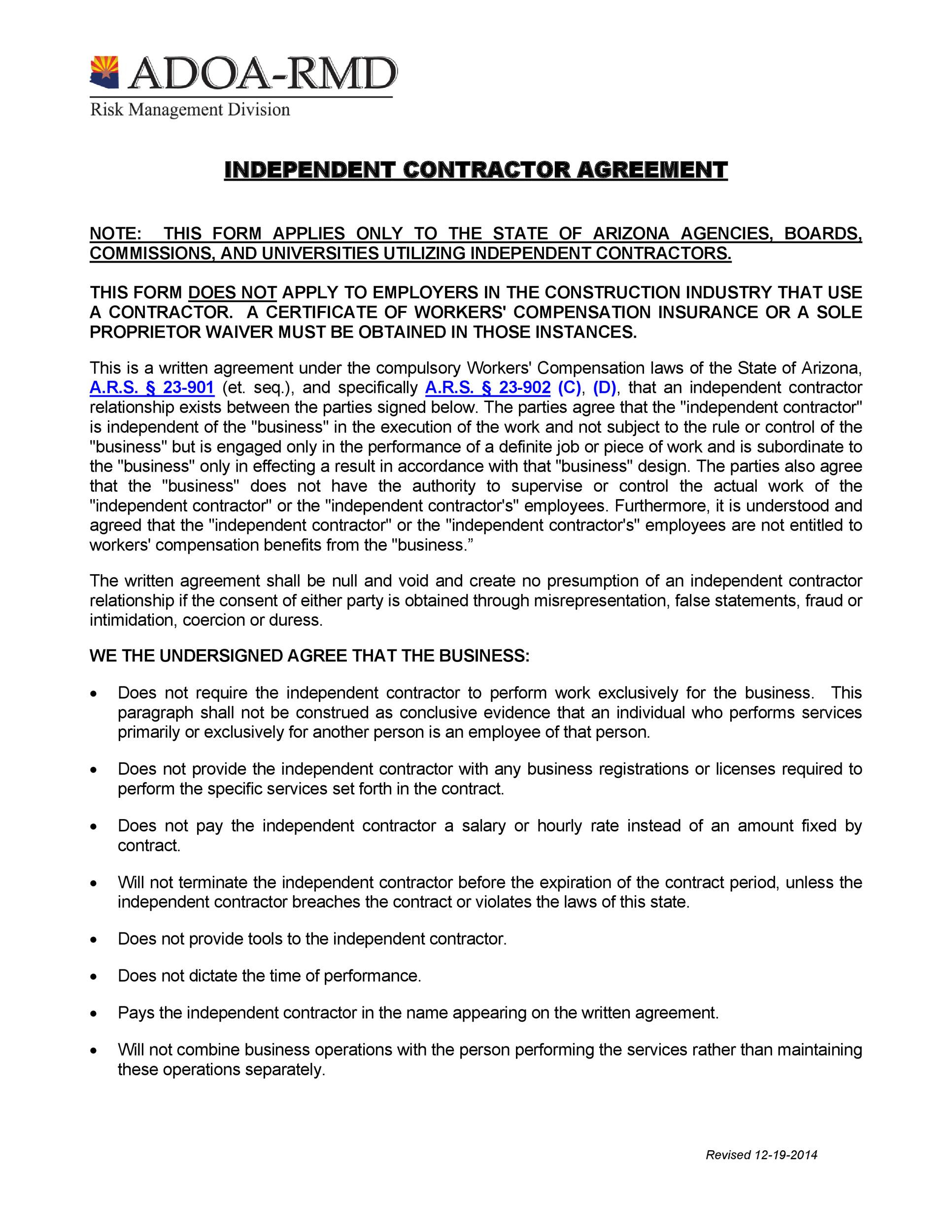 50+ FREE Independent Contractor Agreement Forms \u0026 Templates