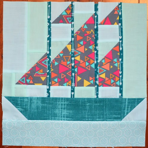 Set Sail Block - Modern Blocks Bee for Lizz