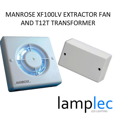 12v Low Voltage Extractor Fan With Transformer Envirovent Silent 100s Standard Version
