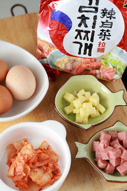 Kimchi Ramyun Omelette Ingredients