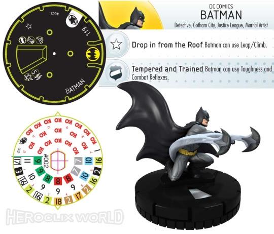 Batman HeroClix justice League Dial new 52