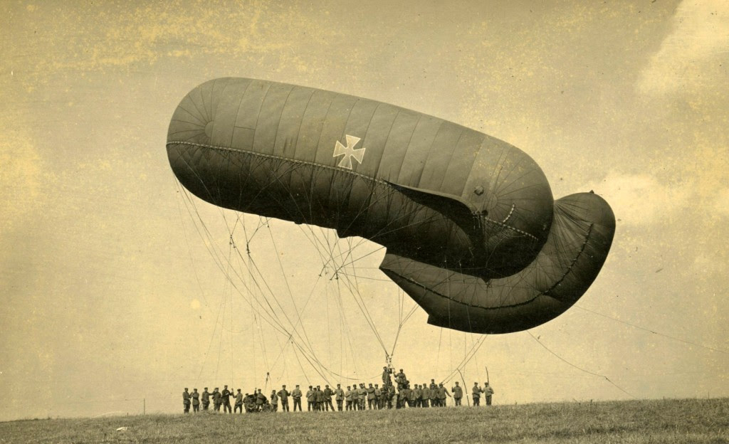 While they were susceptible to aerial attack, balloons would still be used in the First World War as observation posts and bombing platforms.