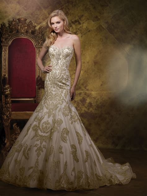 gold wedding dress dresscab