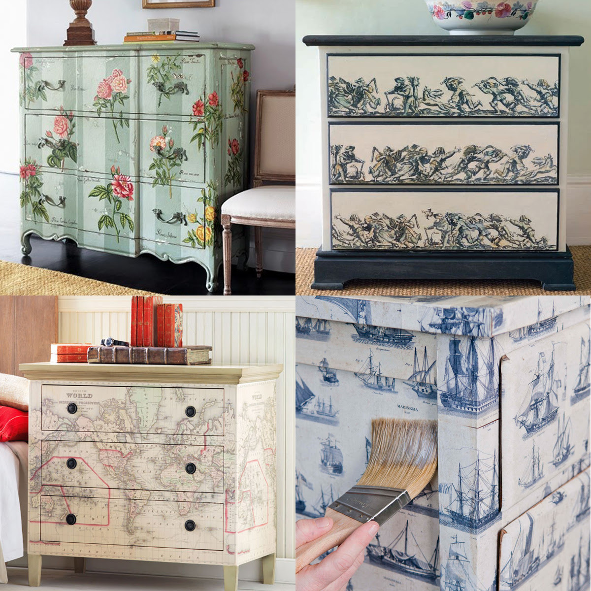decoupage ideas for furniture. Diy Decoupage Furniture Ideas For A