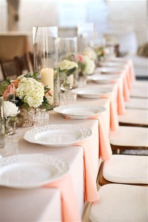 Peach and Cream   Design   Wedding table settings, Cream