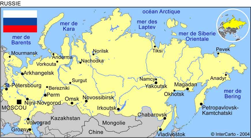 """Résultat de recherche d'images pour """"la russie carte géographique"""""""