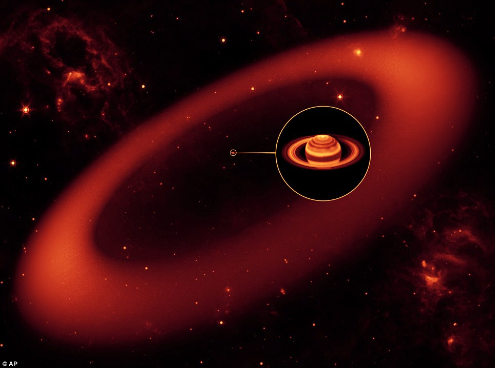 The biggest but never-before-seen ring around Saturn