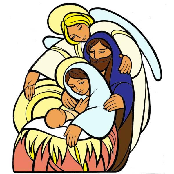 Disegno Di La Sacra Famiglia A Colori Per Bambini