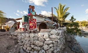 Batiri Tataio and her grandson Mikaere of Temaiku on South Tarawa, Kiribati