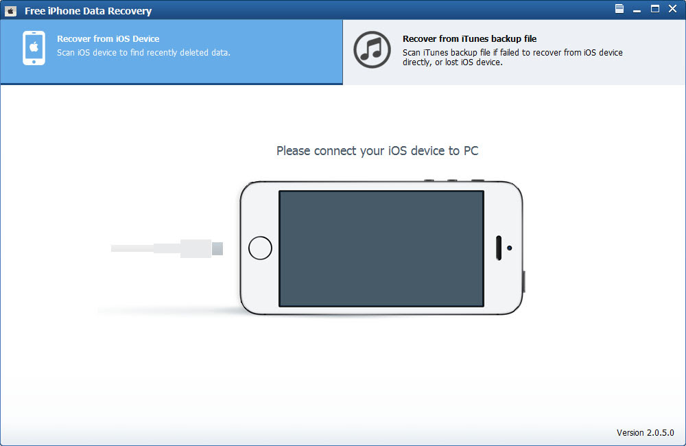 Free iPhone Data Recovery full Windows 7 screenshot  Windows 7 Download