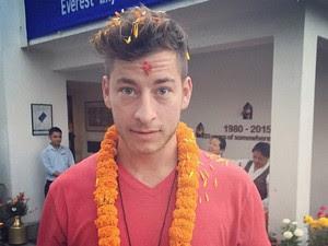 Fredinburg chegou ao Nepal no final de março para a escalada (Foto: Reprodução/Instagram/danfredinburg)