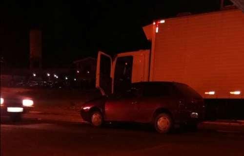 Candói - Carro e caminhão se envolvem em acidente de trânsito