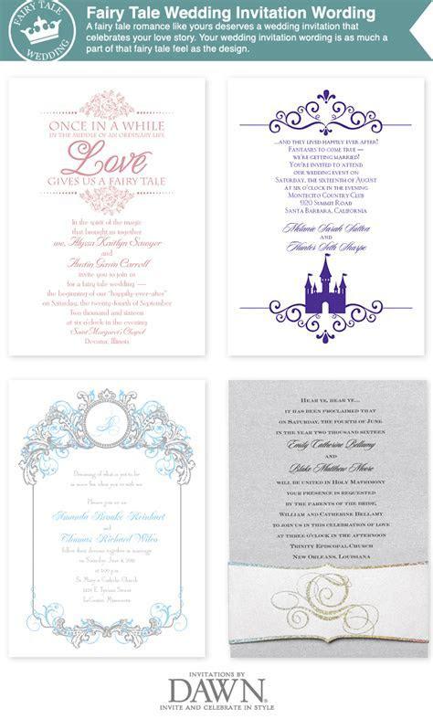 fairy tale wedding invitation wording from www