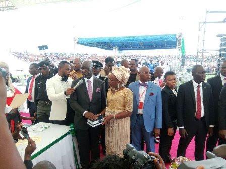 Huge crowd as Obaseki takes oath of office