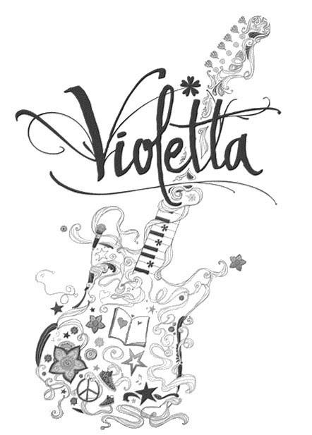 Coloriages Violetta Bonjour Les Enfants
