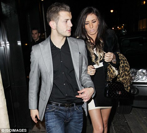 On the town: Jack Wilshere was out at the Arsenal Christmas party last night