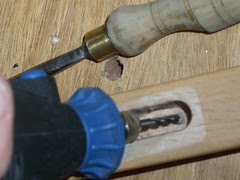 Cleaning with dremel and chisel