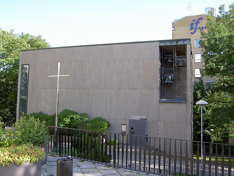 Bergshamra kyrka i augusti 2008