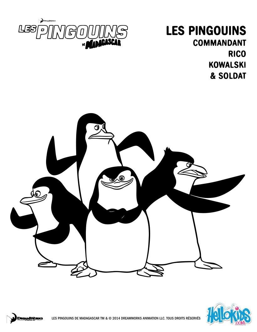 Coloriage Pingouin Kawaii.Dernier Coloriage Pingouin De Madagascar Coloriage A Imprimer