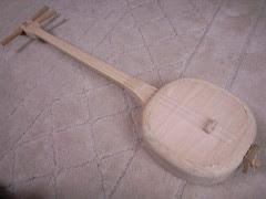 Wooden sanshin