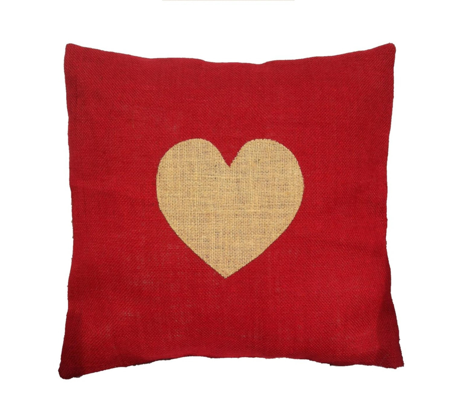 Handmade Red Burlap Valentine's Day Heart by UptownHeirloomCo