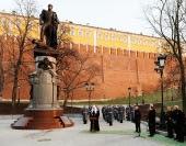 Президент России и Предстоятель Русской Православной Церкви приняли участие в церемонии открытия памятника императору Александру I у стен Московского Кремля