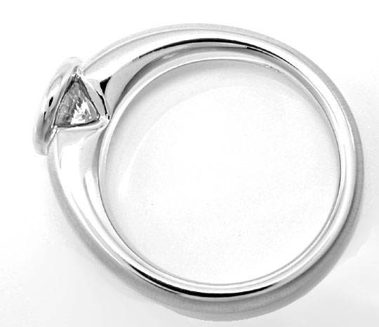 Original-Foto 3, BRILLANT-SOLITÄR-RING 0,93CT LUPRENREIN 18K SCHMUCK NEU