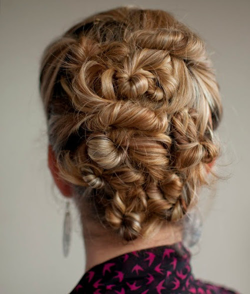 twisted homecoming updo