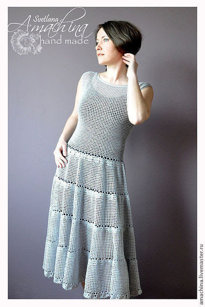 "Handmade dresses.  Fair of Masters - handmade.  Buy ""Coquette"", based on the dress of Salvatore Ferragamo.  Handmade.  Gray"