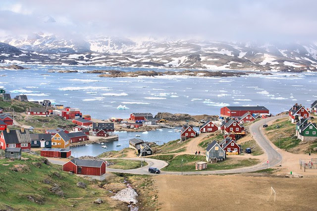 Village of Tasiilaq; View from Hotel Angmagsallik