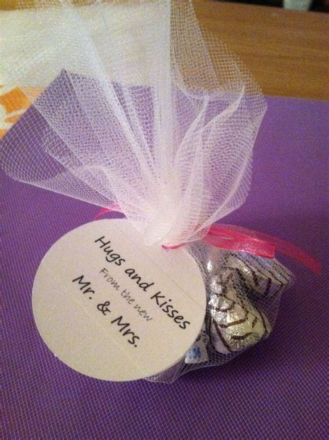 Hershey kiss favors   happily ever after
