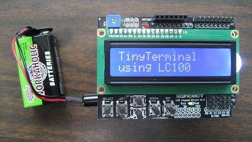 TinyTerminal using LC100