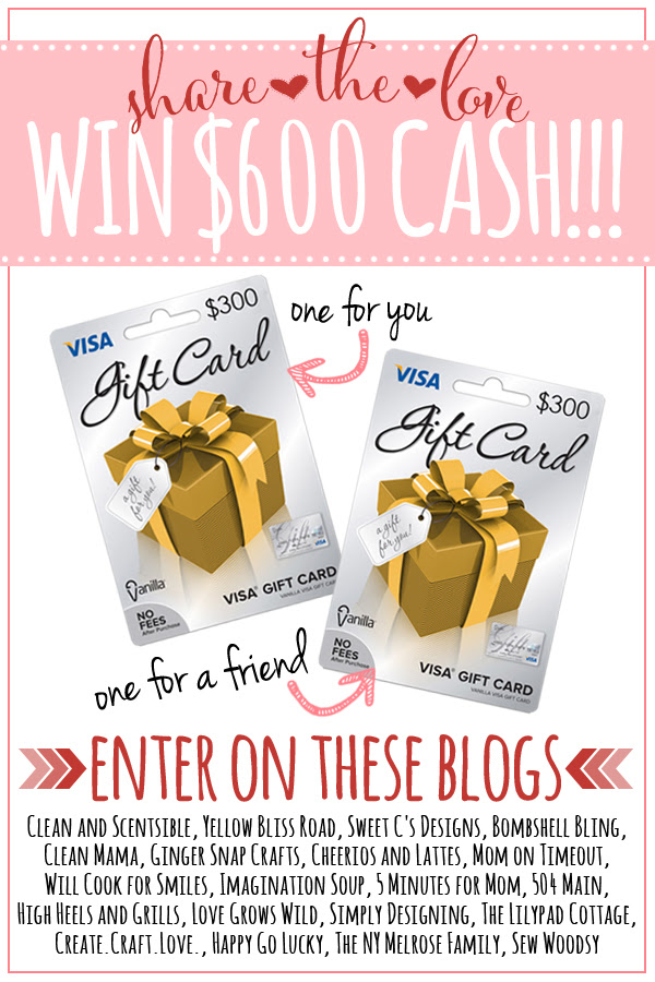 Enter for a chance to win $600 in Visa gift cards!