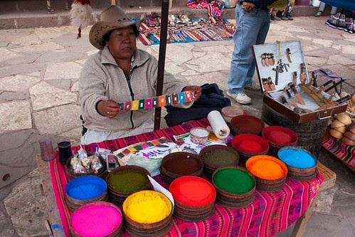 Natural dyes for sale at the market