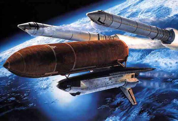 Space shuttle artwork #1, by Mark Waki.