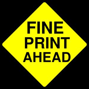 Fine Print Caution Clip Art