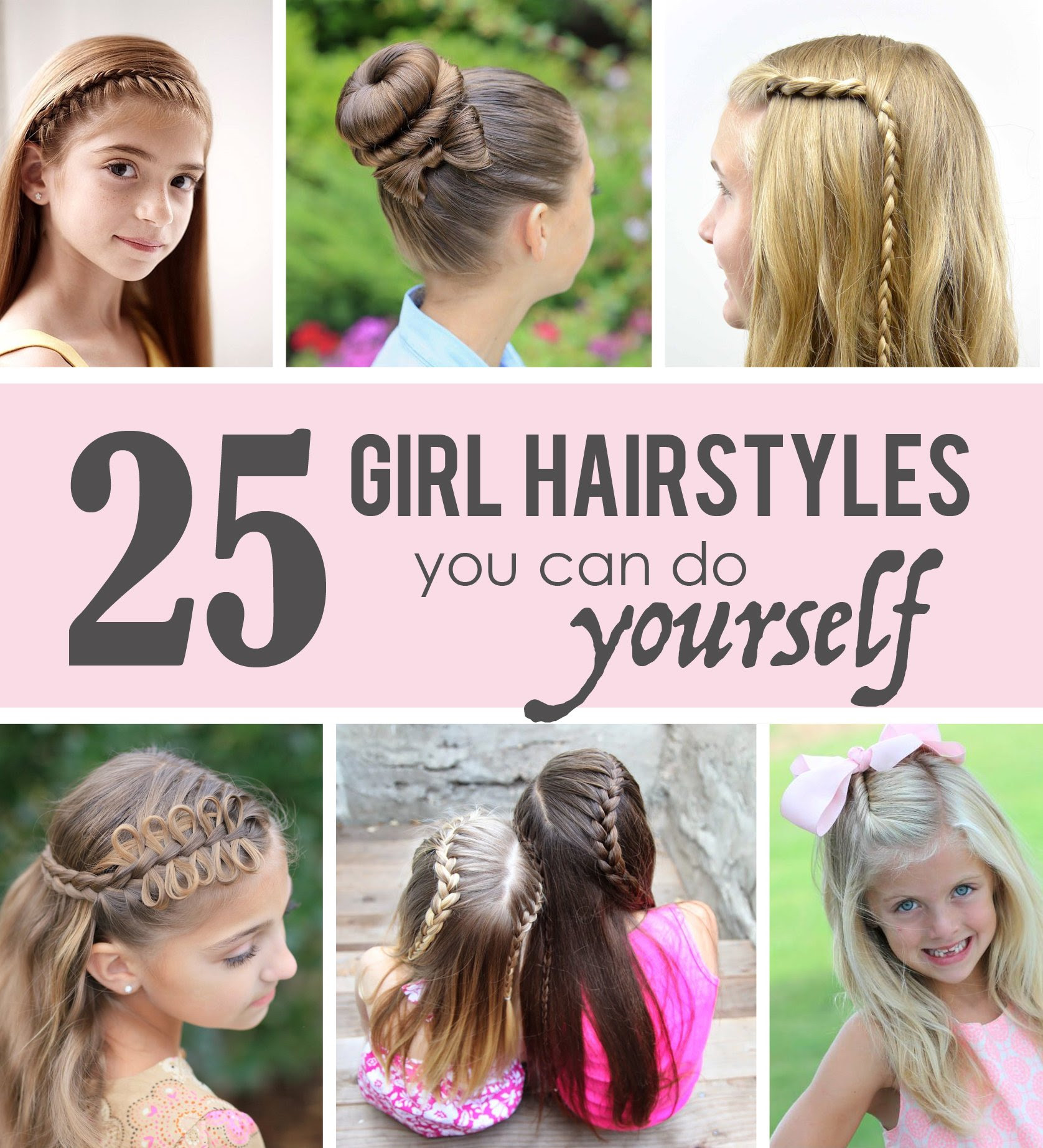 25 Little Girl Hairstyles   you  can  do  YOURSELF  Make It