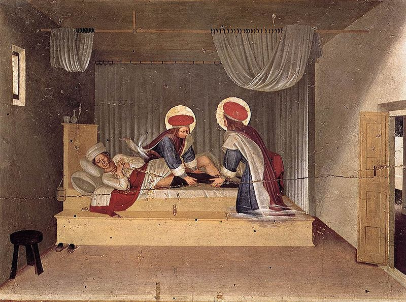 File: Angelico, Predella dei santi Cosma e Damiano da pala di San Marco, healing.jpg