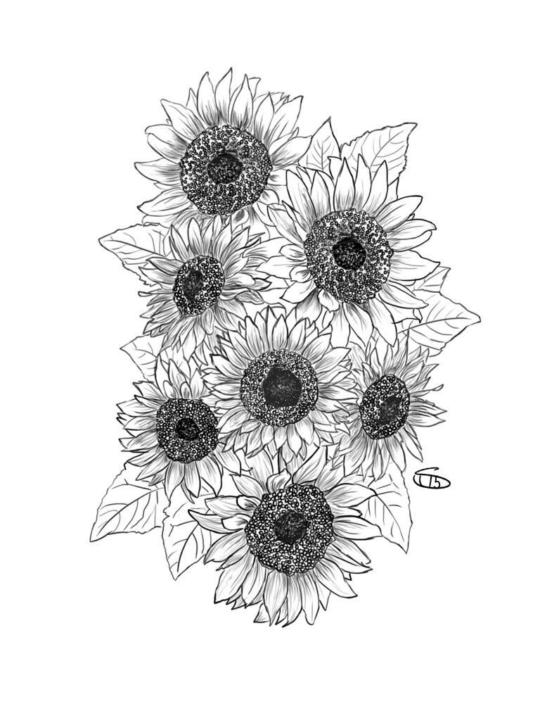 Sunflower Tattoo by Sharksidedown on DeviantArt