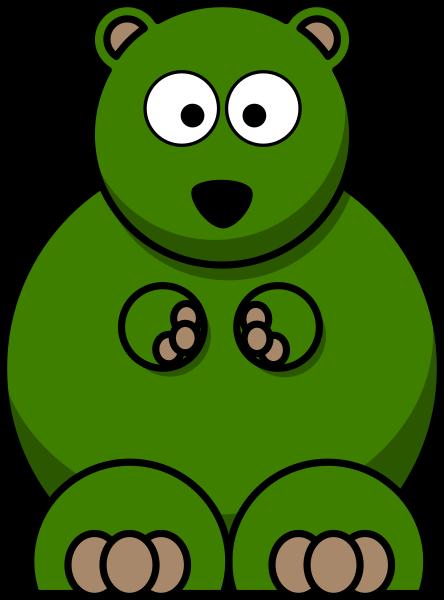 Dark Green Bear Clip Art at Clker.com - vector clip art ...