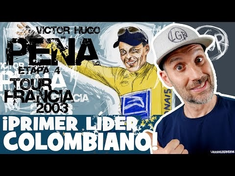TDF2003. Victor Hugo PEÑA... ¡PRIMER LÍDER COLOMBIANO! Tour de Francia 2003. Etapa 4. CRE - Alfonso Blanco