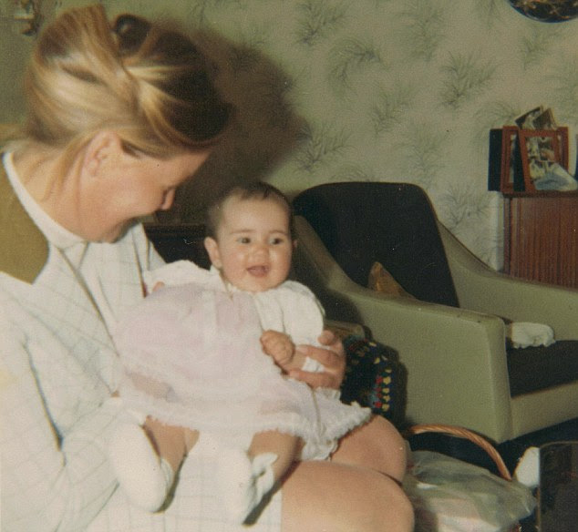 Michelle Rooney (as a baby with her adoptive mother) was adopted after being found in a bin bag outside a block of flats in Walthamstow, east London