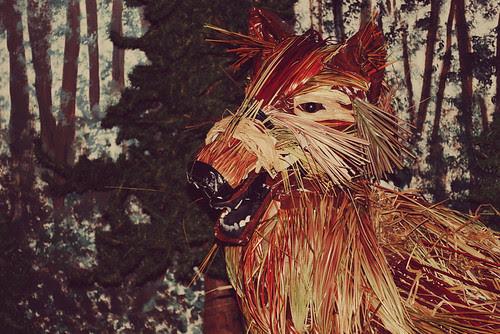Wolf scarecrow