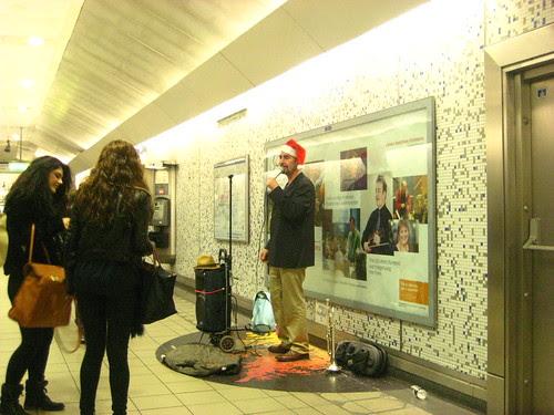 Santa Sings on the Tube