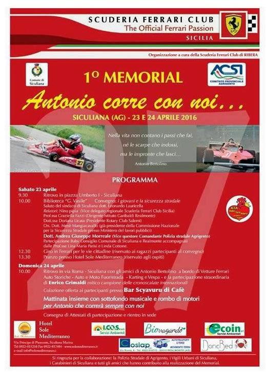 1° memorial per ricordare Antonio