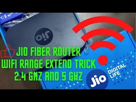 Jio Fiber Router WiFi 2 4Ghz and 5Ghz Range Extend Trick